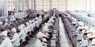 Цех микроэлектроники в 80-е годы