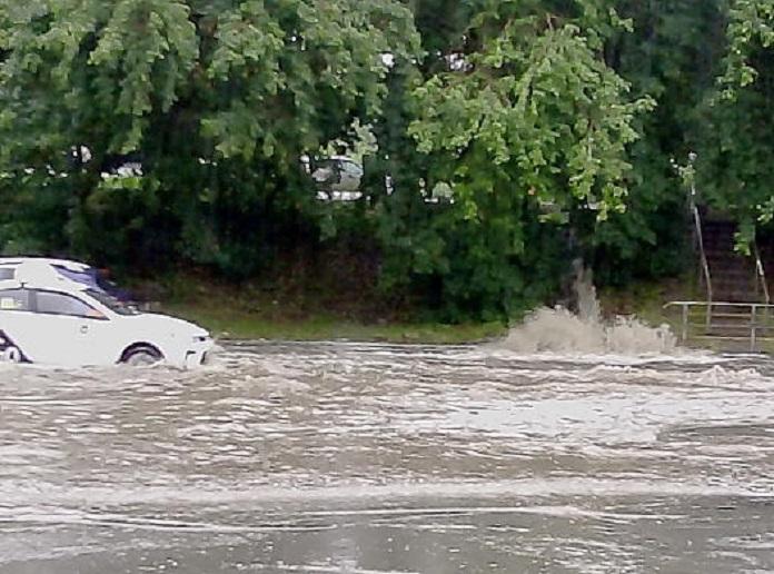 4 августа в Новосибирске прошел сильный ливень
