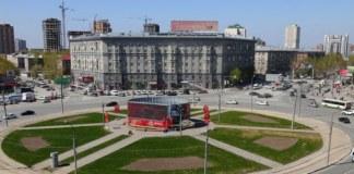 Реконструкция площади Калинина Новосибирск