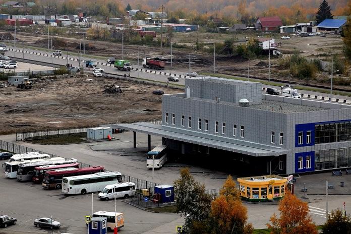 Строительство трамвайных путей автовокзала на Гусинобродском шоссе в Новосибирске