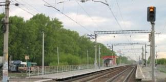 Железная дорога ЗСЖД Станция Ипподром Новосибирск пути