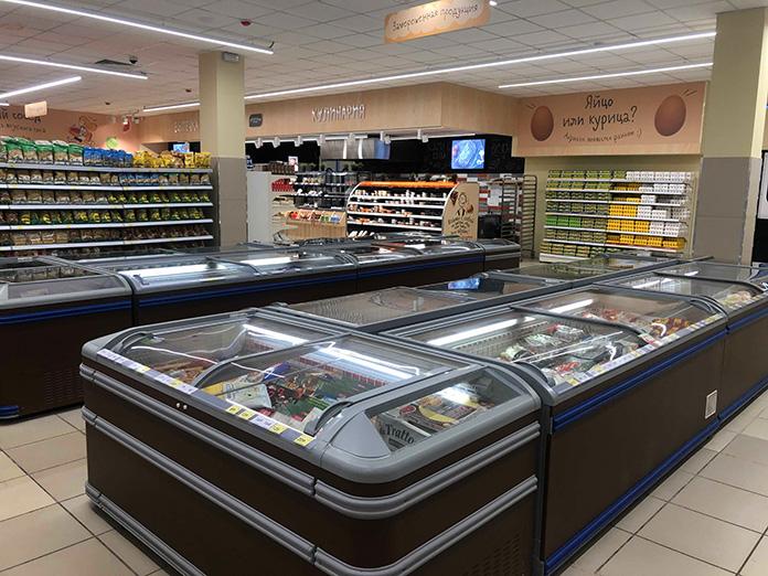 супермаркет хороший выбор - замороженная продукция