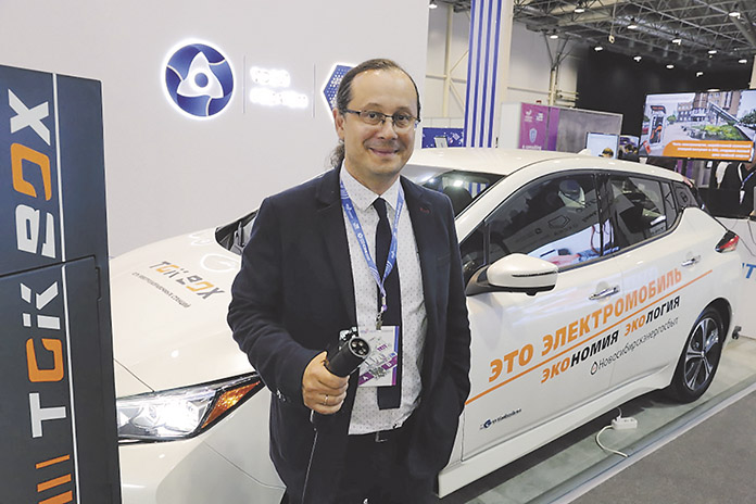 Солнечную станцию и электрозаправки представили на форуме «Технопром»