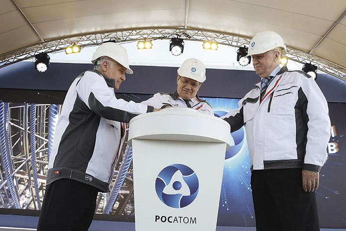 Торжественная церемония начала строительства атомного энергоблока с инновационным реактором на быстрых нейтронах БРЕСТ-ОД-300