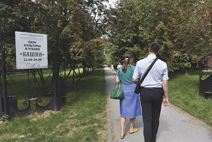 Вход в парк культуры и чтения «Башня»