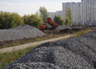 Строительство дороги в Новосибирске