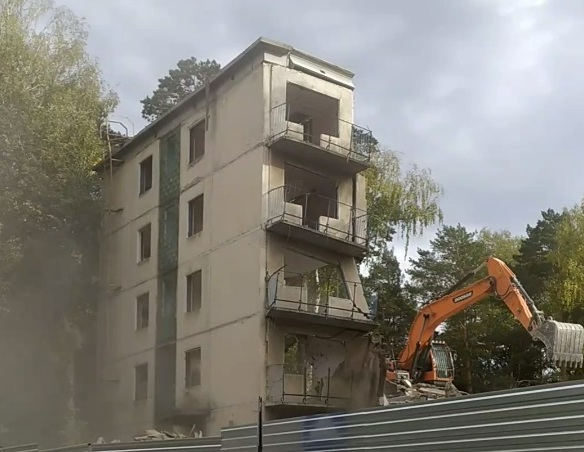 Снос общежития НГУ