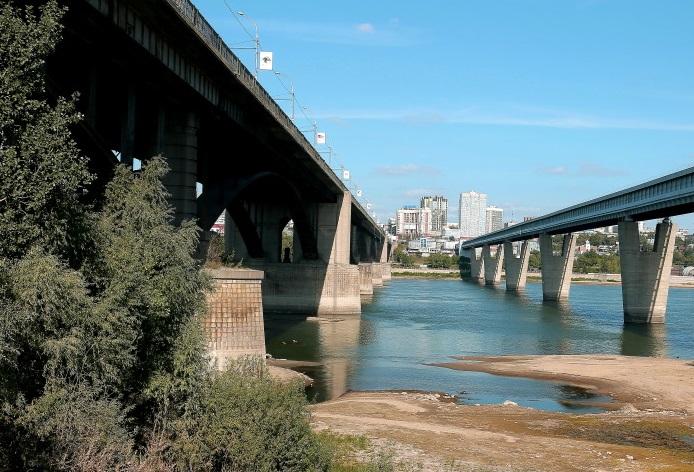 Капитальный ремонт Октябрьского моста в Новосибирске