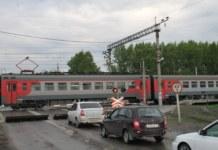 ЗСЖД Новосибирск переезд электричка Ипподром станция