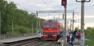 Электропоезд Новосибирск станция Ипподром