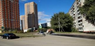 Вдоль улицы Сержанта Коротаева в Новосибирска обустроили тротуар