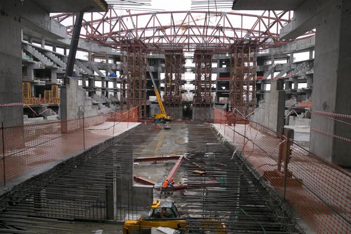 Строительство ледовой арены в Новосибирске