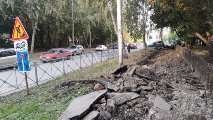 Миниатюра для: Мэр Новосибирска «сделает выводы» из опасного ремонта тротуаров в городе