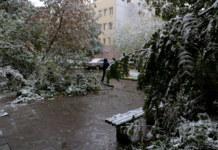 погода, снег