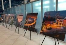 Выставка фотографий в аэропорту Толмачёво Новосибирск