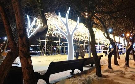 Каток на площади Ленина в Новосибирске