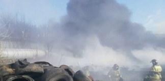 Пожар в Ленинском районе Новосибирска