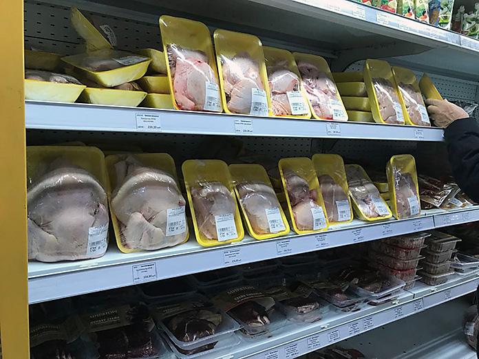 """Цены на курицу в магазине """"Маяк"""""""